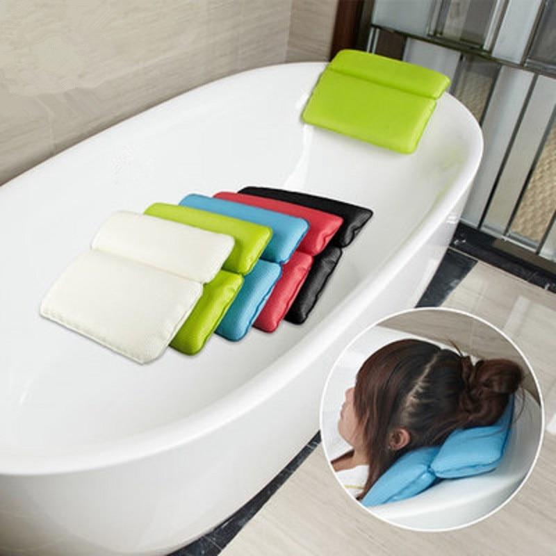 bathtub pillow bath pillow headrest sucker waterproof very big soft spa bath pillow Bathroom SPA soft pillow