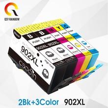 CMYK SUPPPLIE 5PCS Para Cartucho Jato de Tinta Remanufaturados para Cartucho de Tinta para HP6960 HP902 XL para HP906XL com chip full tinta