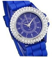 Reloj Gnova cristal Geneva estrás mujer reloj de pulsera Casual silicona bling Silicona