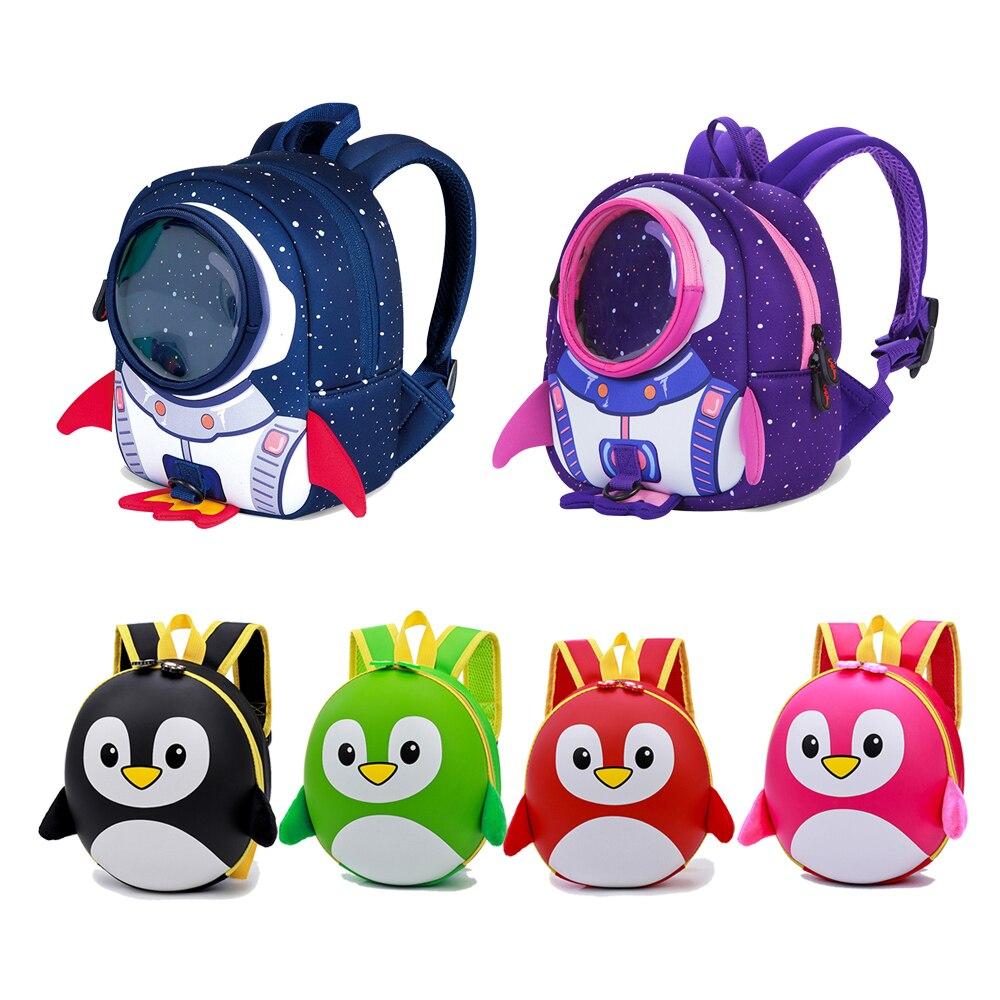 Bonito pingüino niños mochilas sac Infant maternelle garcon niños bebé niña escuela mochila VENTILACIÓN DE VERANO niño escuela bolsa