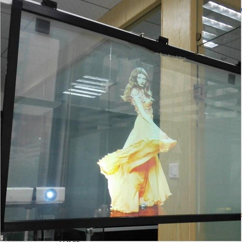 HOHOFILM 152cm x 150cm película de proyección trasera transparente película de proyección holográfica PET pared de proyección hogar Oficina tinte personalizado