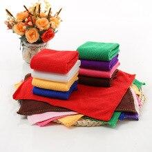 1 Uds 25*25cm de Color sólido suave toalla cuadrada para la cara de microfibra de limpieza de Mano Toallas de baño badlaken toalla Toallas Mano 42177