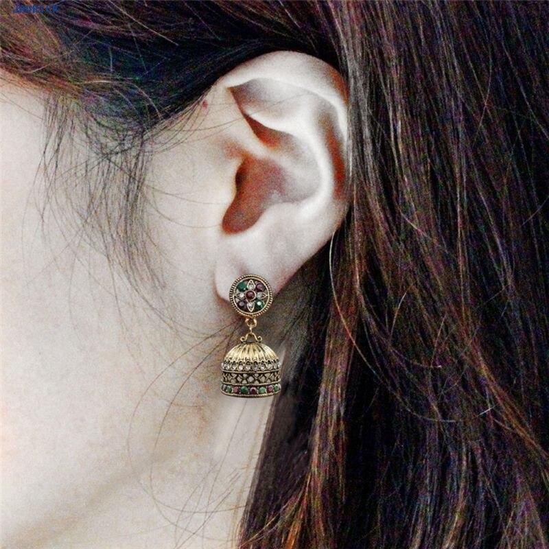 JAVRICK Women Ethnic Bali Jhumka Jhumki Brocade Crystals Mexico Gypsy Dangle Earrings Jewelry Exquisite Earrings