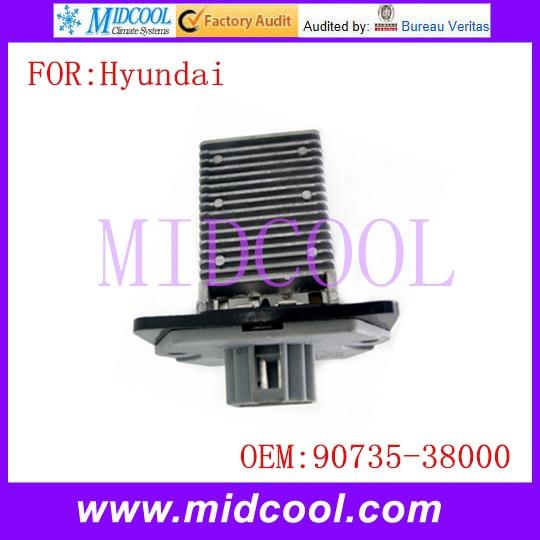 Nuevo Motor de soplador Resistor, uso OE NO. 90735-38000 para Hyundai Elantra Sonata