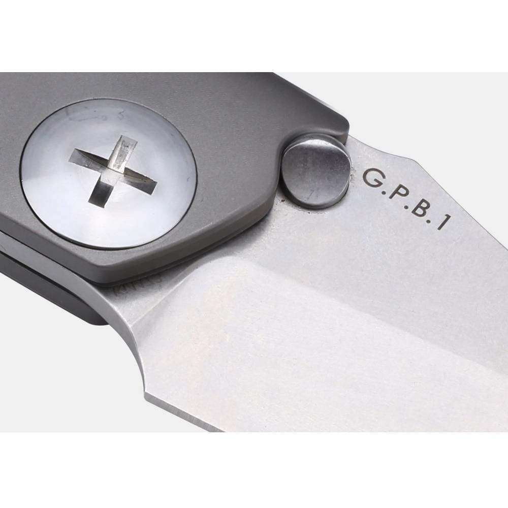 Kizer tactical knives GPB1 KI4473 titanium edc S35VN blade flipper knife outdoor survival knife rescue high quality hand tool enlarge