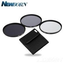 Lentes de cámara filtro ND 49mm 52mm 55mm 58mm 62mm 67mm 72mm 77MM filtro de densidad neutra lente Kit ND2 ND4 ND8 y 2 4 8