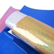 데이비드 액세서리 20*34cm 레이저 홀로그램 가짜 합성 가죽, DIY 장식 의류 Knotbow 가방 신발 공예, 1Yc5168