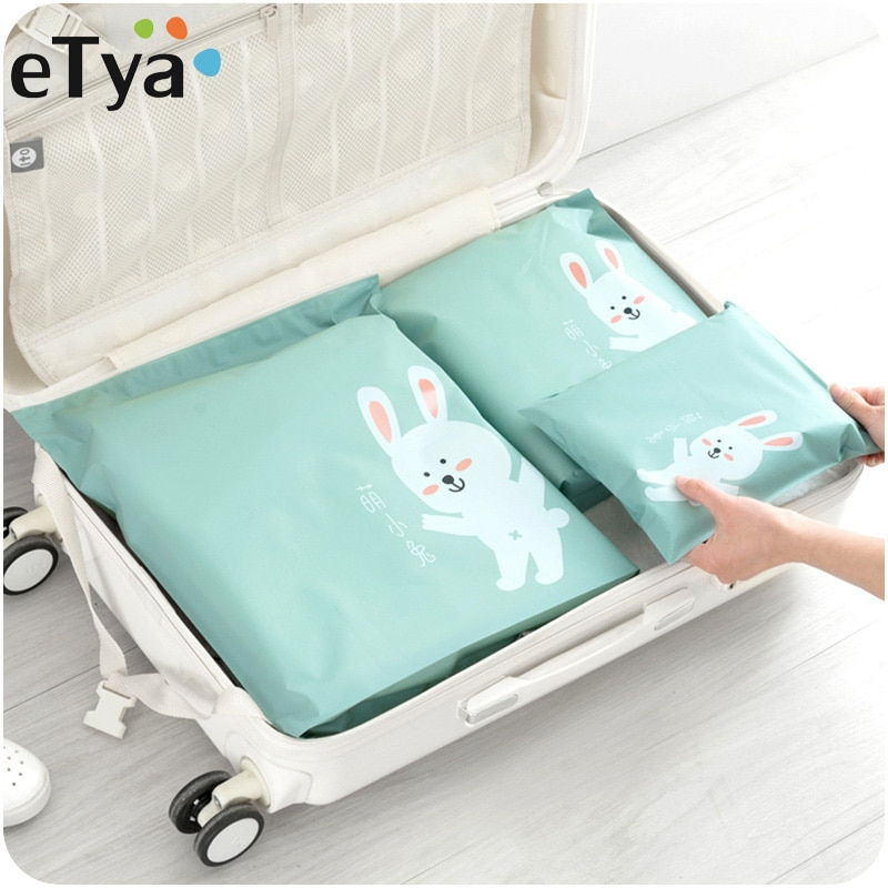 eTya Multifunction Travel Cosmetic bag Women PVC Waterproof Luggage Packing Organizer Large Capacity