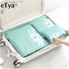 eTya Multifunction Travel Cosmetic bag Women PVC Waterproof Luggage Packing Organizer Large Capacity