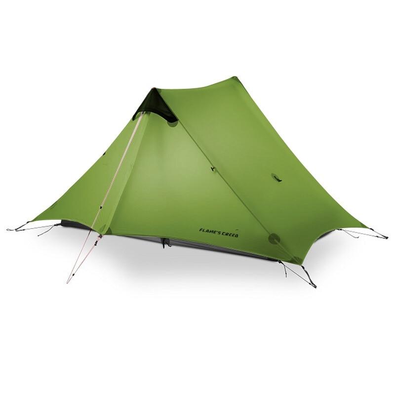 2019 LanShan 2 FLAME'S CREED 2 Person Outdoor Ultralight Camping Tent 3 Season Professional 15D Silnylon Rodless Tent недорого
