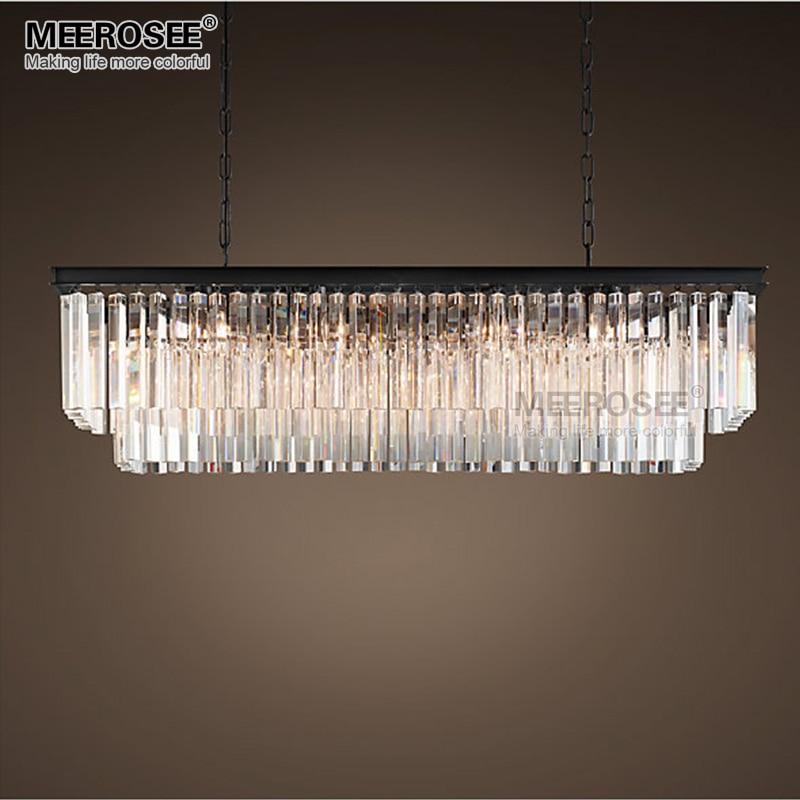 Современные прямоугольные подвесные светильники, Хрустальные подвесные люстры de cristal, лампа для столовой, фойе, подвесное освещение, 100% гар...