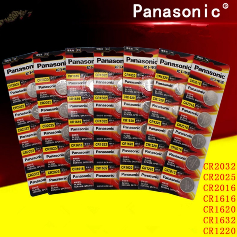 35 Uds original de Panasonic cr2032 cr 2025 cr2016 cr1220 cr1616 cr1620 cr1632 3v pila de botón baterías para ver la computadora