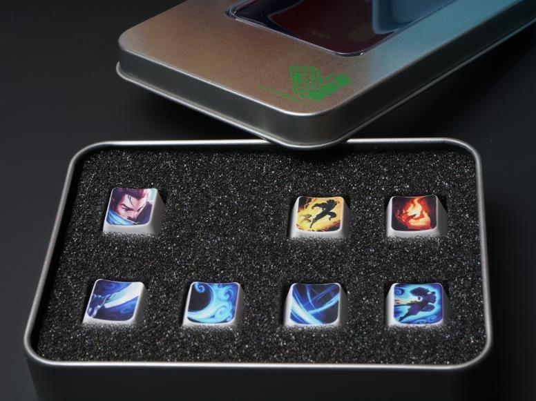1 conjunto lol heros e habilidades chave boné para teclado mecânico todos os heros pode ser impresso por favor deixe mensagem