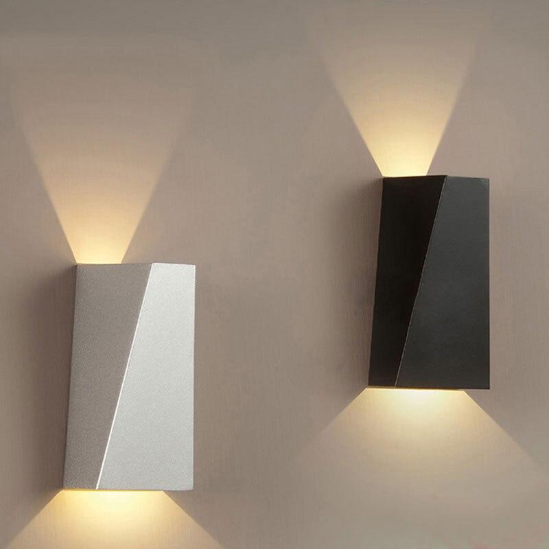 10W Mordern Светодиодный настенный светильник с двойной головкой, Геометрическая настенная лампа, бра для зала, спальни, коридора, лампа для туалета, ванной комнаты, лампа для чтения