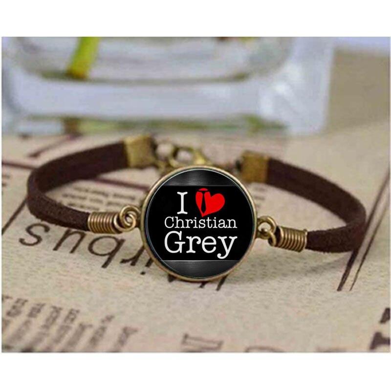 1 pçs/lote Fifty Shades of Grey, Cinqüenta Cinza pulseira, pulseira de 50 Tons de Cinza, Laters Jóia Do Bebê, pulseira de arte, presente para Ela Lhe