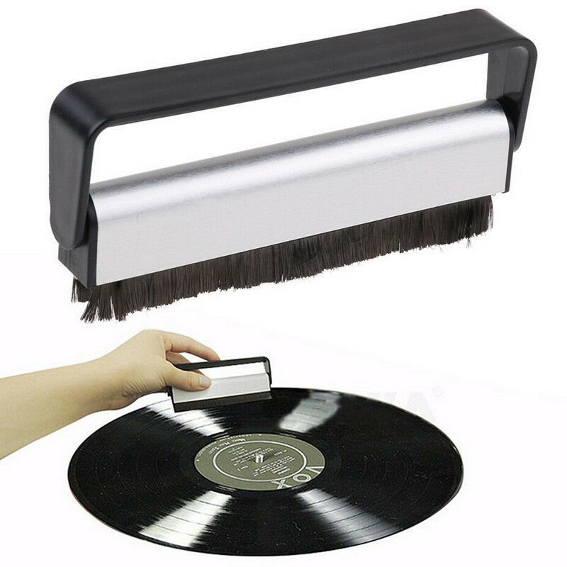 New Useful Carbon Fiber Record Cleaner Cleaning Brush Vinyl Anti Static Dust Remover Turntable Playe