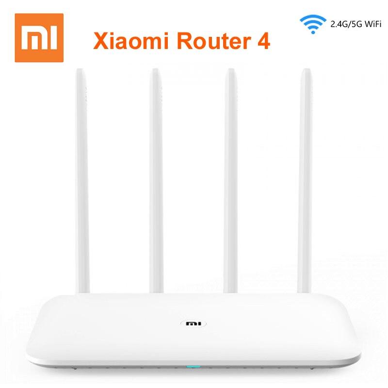 Xiaomi mi Router WIFI 4 WiFi repetidor 1167Mbps Doble Banda Dual Core 2,4G 5Ghz 802.11ac cuatro antenas de Control de la aplicación de los Routers inalámbricos