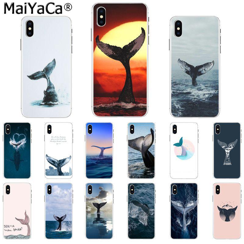 MaiYaCa Vida Marina ballena cola pintada hermosa funda de teléfono para iphone SE 2020 11 pro 8 7 66S Plus X XS MAX 5S SE XR