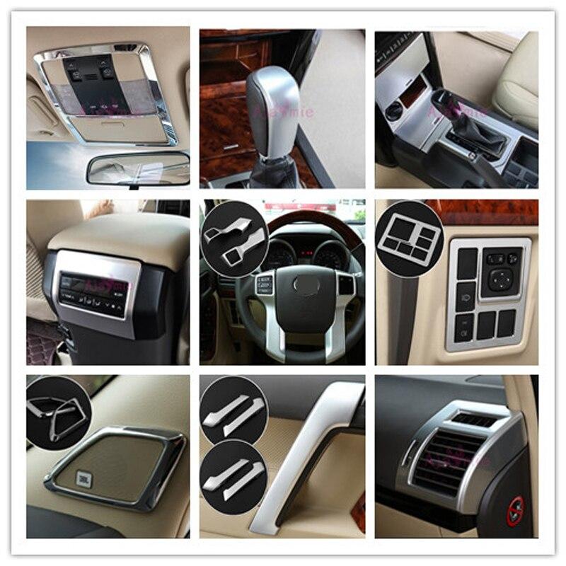 Pour Toyota Land Cruiser 150 Prado LC150 FJ150 2010-2017 support de poignée roue de direction couvercle de roue Chrome accessoires de style de voiture