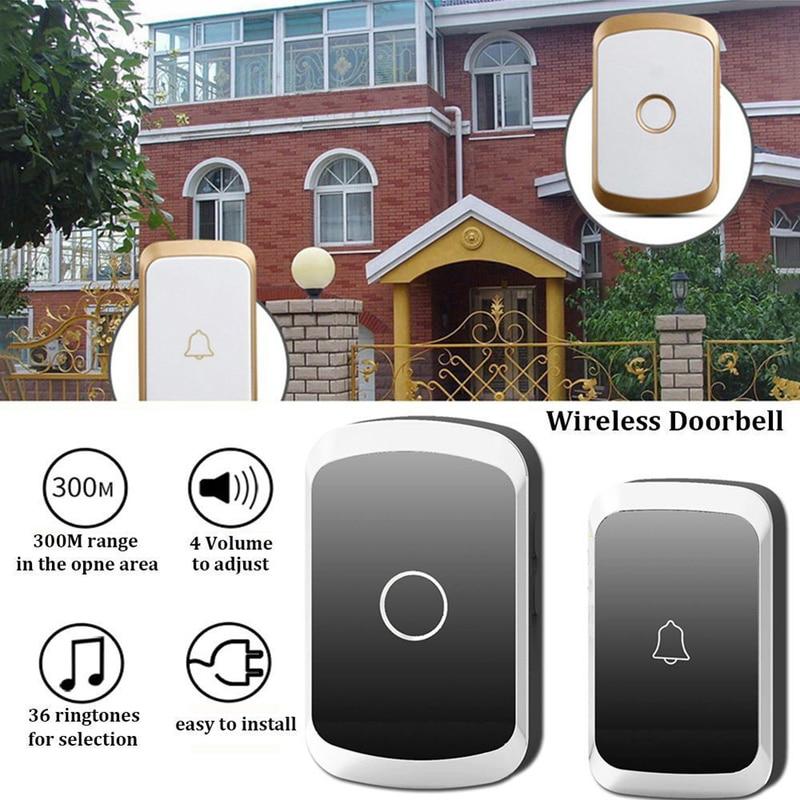 Timbre inalámbrico impermeable timbre inteligente 300M remoto US EU UK enchufe LED Flash hogar inalámbrico timbre de puerta inteligente Wifi timbre