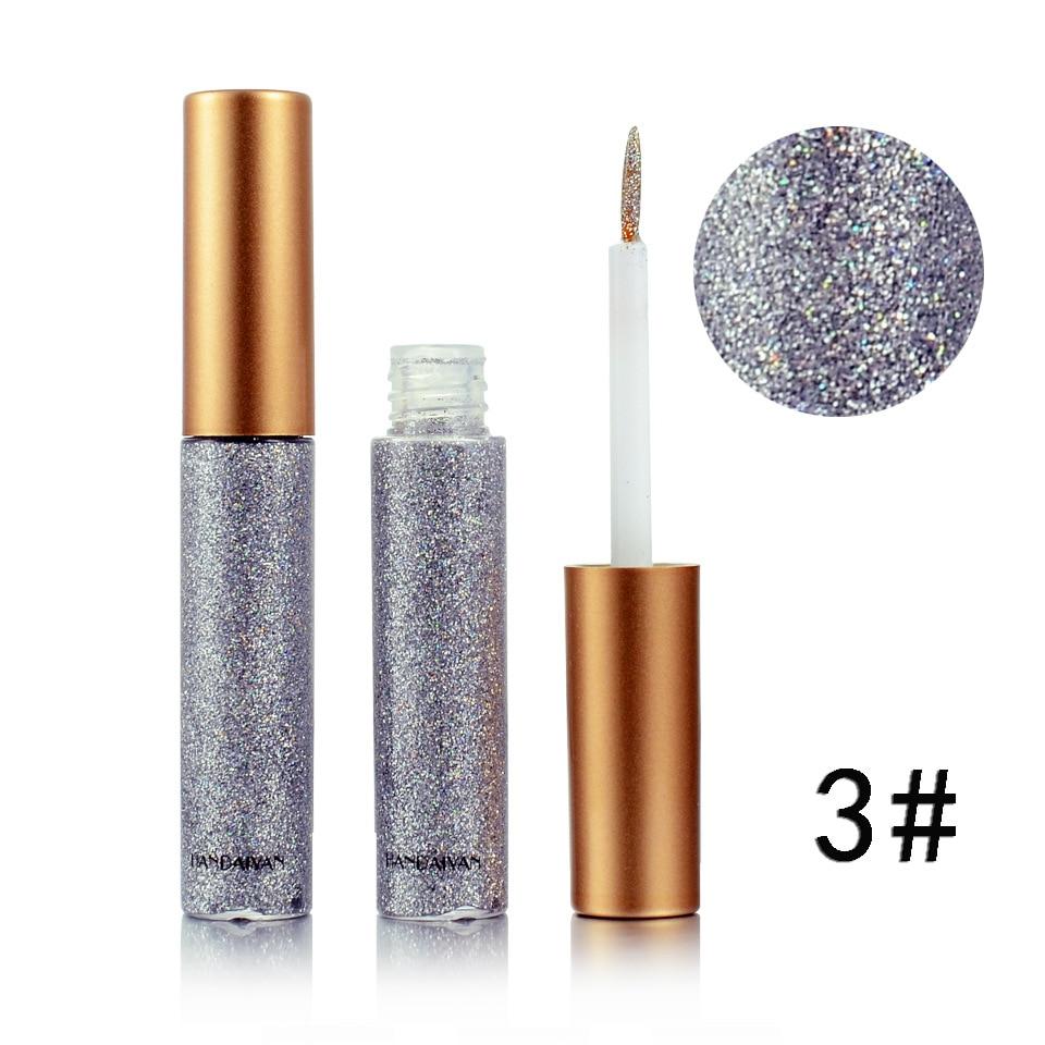 Waterproof HANDAIYAN Glitter Eyeliner long-lasting eyes cosmetics 10 colors available easy to wear 240pcs/lot DHL Free
