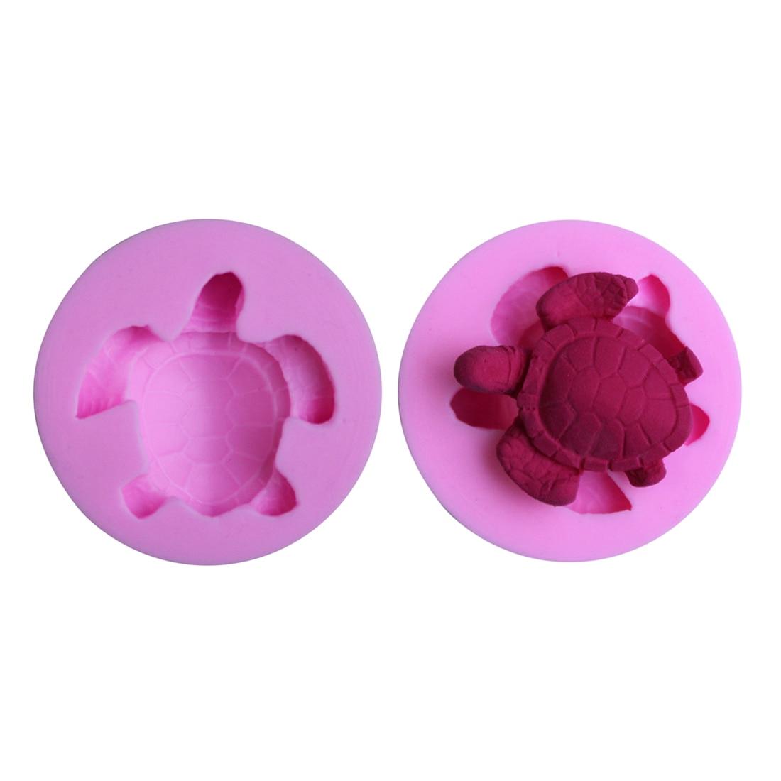 Mejor bricolaje tortuga de mar herramientas de decoración de pasteles Fondant pudín de Chocolate molde de pastel de silicona herramientas para hornear tortuga jabones, pastelería