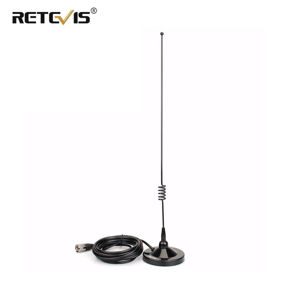 Rechape MR100 support magnétique Mobile et combinaison d'antenne bi-bande connecteur SL16/PL259 VHF UHF pour autoradio RT98/RT95
