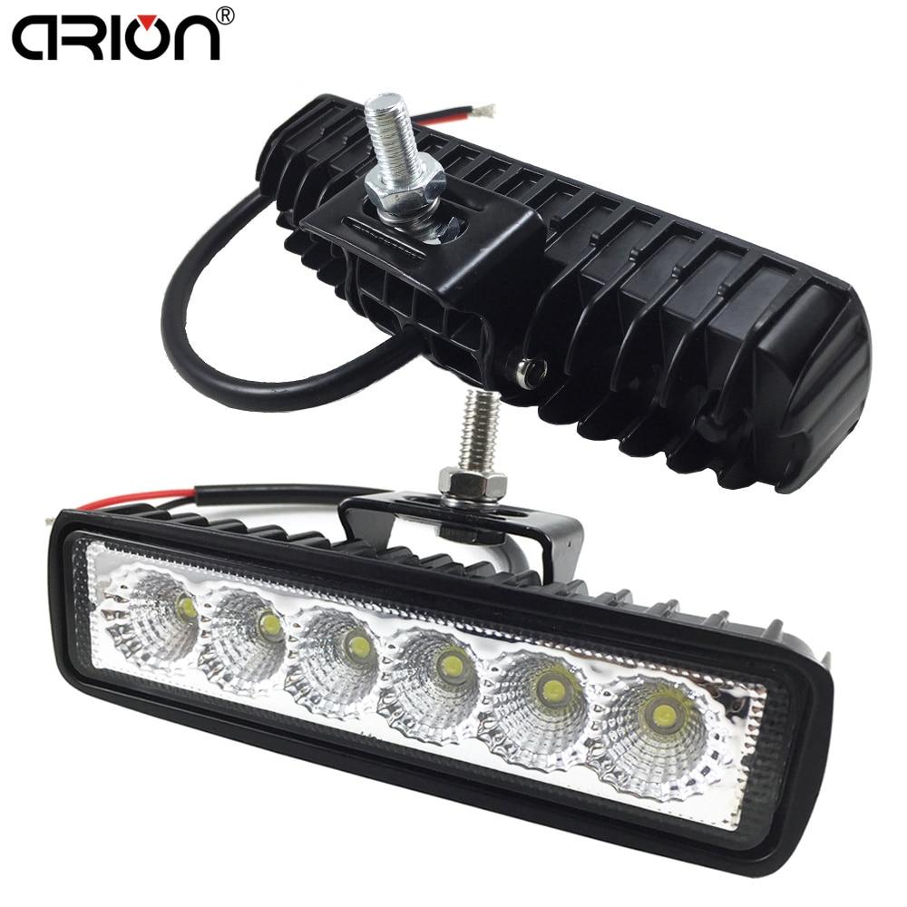1 шт., 2 шт., 18 Вт, ДХО, светодиодный прожектор, рабочий свет 9-32 В, 4WD, 12 Вольт, светодиодные лампы для внедорожников, автомобилей, грузовиков