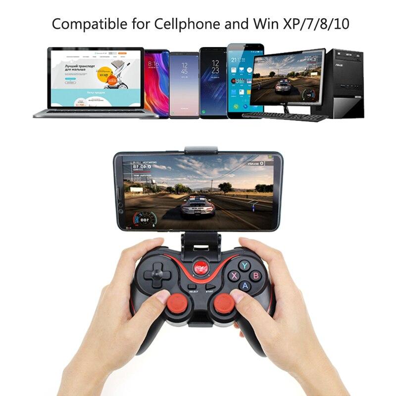 Original T3 GamePad inalámbrico Bluetooth Joystick de control remoto PC controlador de juego para Smartphone/tableta PK S3 Paquete de controlador