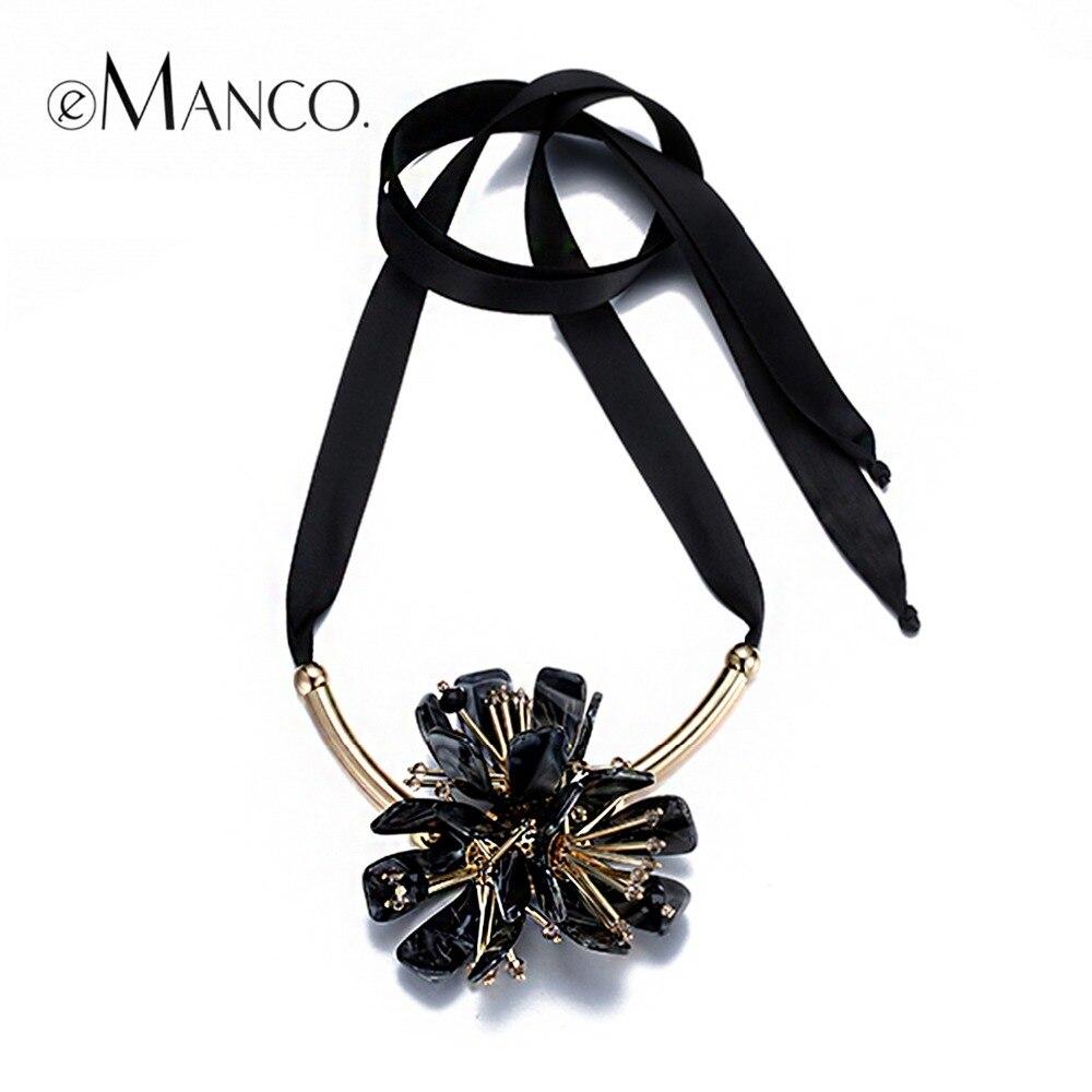 ¡Novedad! Collares de cadena de alambre acrílico de eManco, colgantes de flores llamativos, collares de moda, accesorios cosméticos para mujeres