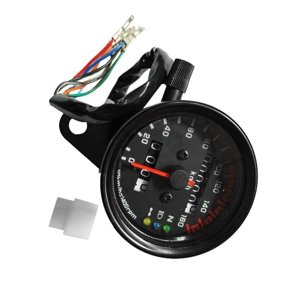 El más nuevo de la motocicleta velocímetro, medidor cuentakilómetros Medidor de velocidad dual con indicador LCD Vintage modificación accesorio