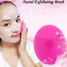 Recién llegado, almohadilla de lavado de belleza de silicona, exfoliante Facial, cara con espinillas, cepillo de limpieza, herramienta suave, Limpieza Profunda, brochas faciales