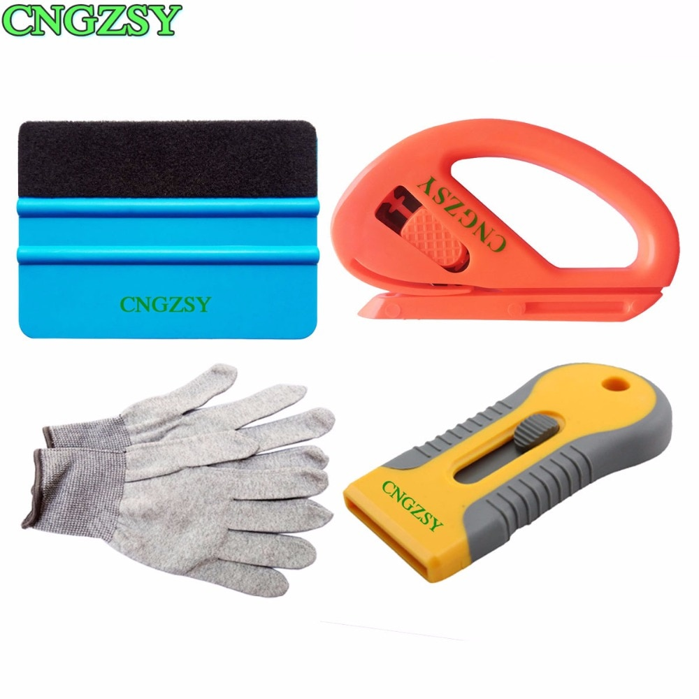 CNGZSY Car Wrapping Tools Kit Squeegee Auto Film Window Installing Vinyl Glass Cleaning Tint K67