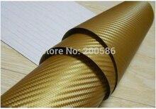 Oro 3D fibra de carbono vinilo envoltura oro coche pegatina Aire Libre burbuja envío gratis tamaño 1,52x30 m/rollo