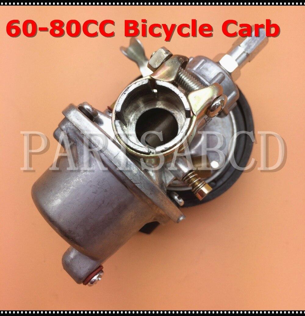 19mm de 50CC 60CC 80CC Bicicleta Motorizada carburador 2 piezas de motor de carrera