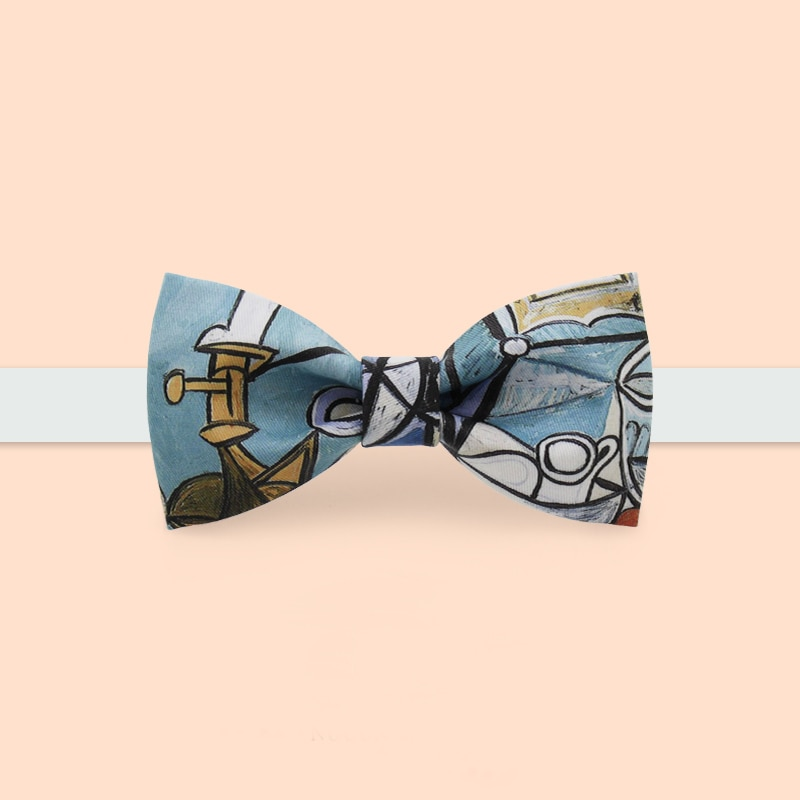 New Free Shipping fashion casual 2019 Men's male man printed bow tie bows groom dress wedding party bows unique Picasso