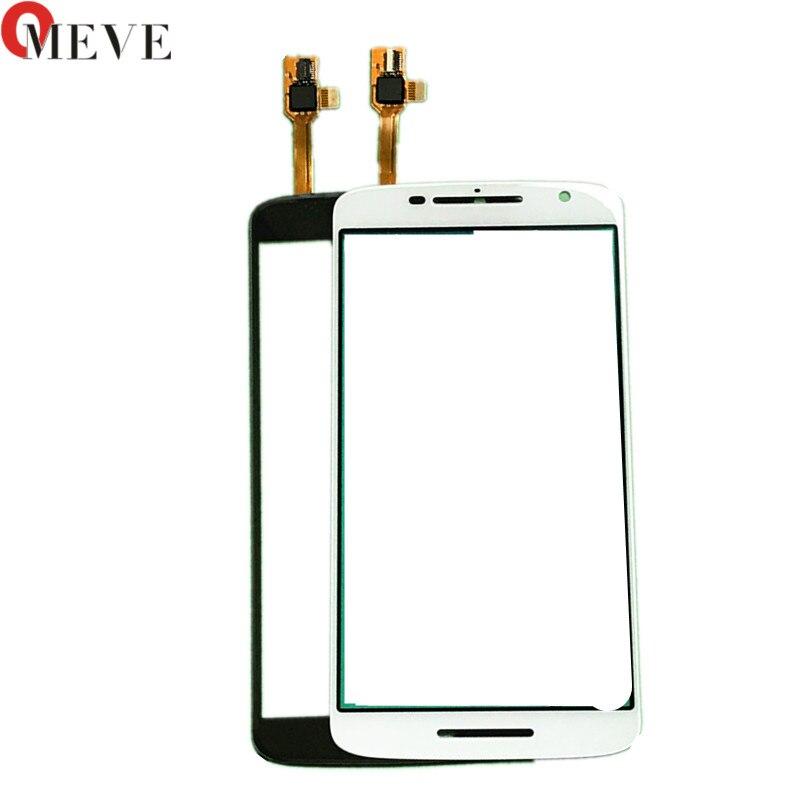 5 unids/lote de pantalla táctil para Motorola Moto X Play XT1561 1562 1563 1564 Droid Maxx 2 1565 tapa frontal de lente de cristal LCD
