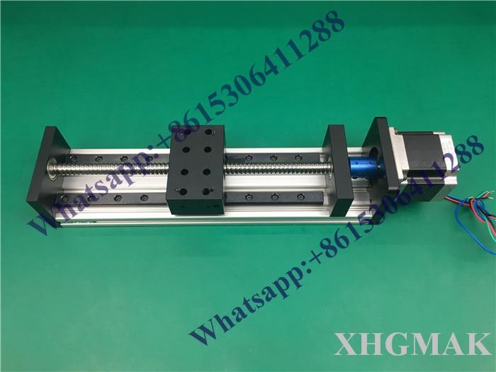 عالية الدقة GX80 * 50 مللي متر Ballscrew الخطي 1610 800 مللي متر فعالة السفر + نيما 23 السائر مرحلة الحركة الخطية كتلة واحدة