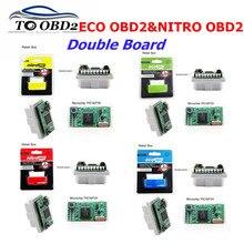 EcoOBD2 Pour Benzine Voitures Vert & Jaune Nitro OBD2 Pour Les Voitures Diesel Rouge & Bleu DÉCUS Boîte de accord de Puce de Carburant et Abaissez Lémission