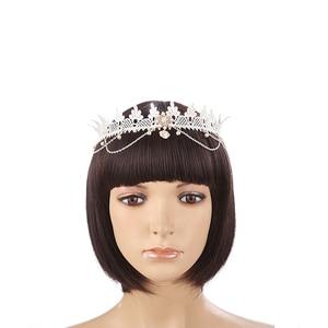 Bohemian Style Flower Crown Headband Women Beach Headwear Chrysanthemum Flowers Hair Bands Wreath Hair Accessories