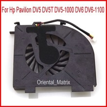 Original Neuf DETLA KSB0505HA 8J75 5 V 0.38A 3Pin Pour Hp Pavilion DV5 DV5T DV5-1000 DV6 DV6-1100 Ordinateur Portable ventilateur refroidisseur de processeur