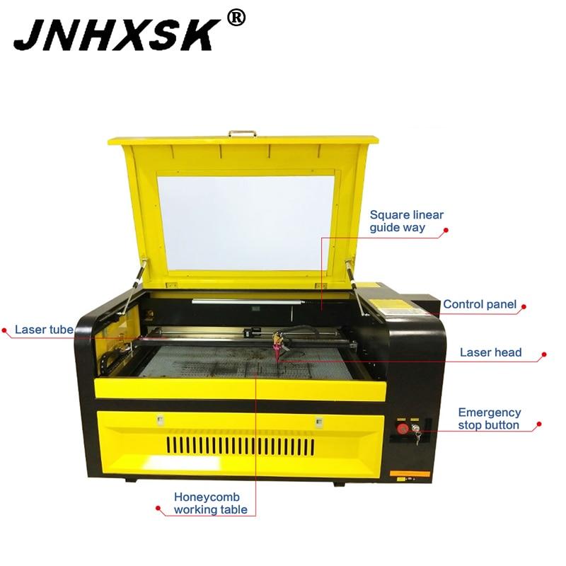 JNHXSK hot sale!600x900mm laser engraving and cutting machine with Ruida control system 100w W2 reci ruida Auto focus CO2 FDA