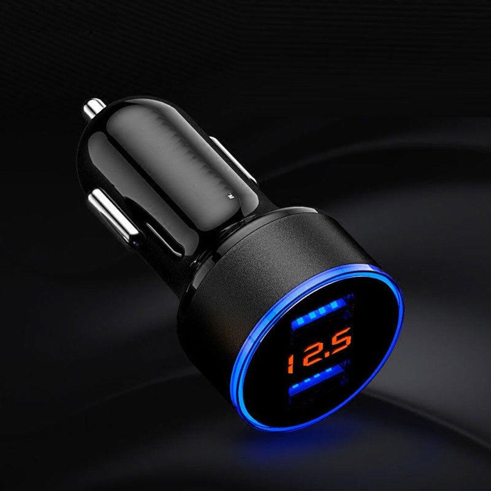 Universal de doble USB cargador de coche 5V 3.1A para Nissan Qashqai J11 J10 Juke Tiida Nota X-trail T31 T32 Lada vesta granta 2018