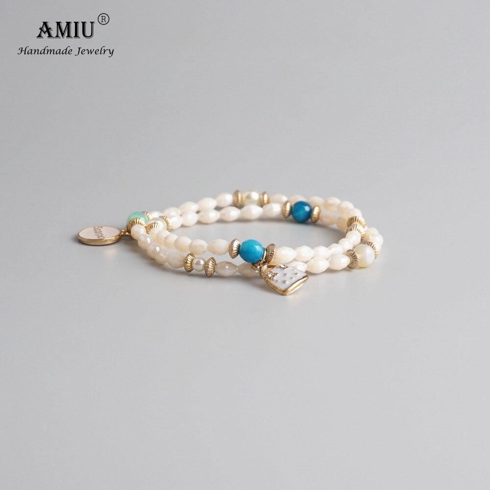 Brazalete de cristal Natural hecho a mano de AMIU, joyería elegante, tamaño ajustable, Dropshipping, pulsera brasileña de diseño para mujer