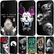 YIKS Telefon Fall Für iPhone 6 6s 7 8 Plus X XR XS Max 5 5s SE Kühlen shark Eule Löwen Weichen TPU Für iPhone X Telefon Fall