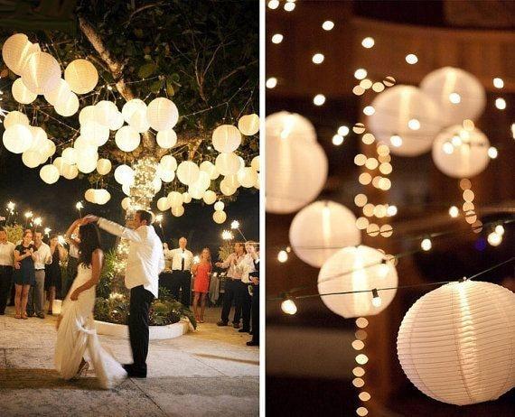 DHL40pcs/lot Dekorative Deckenpendelleuchte Lampenschirm Weiß Reis Papier laternen