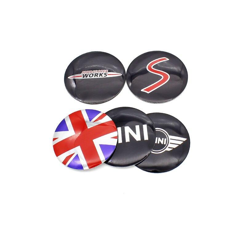 4 pçs 56  50  52mm logotipo do carro emblema roda centro aro hub tampas capa adesivos para bmw mini cooper r56 r50 r53 f56 f55 r60 countryman