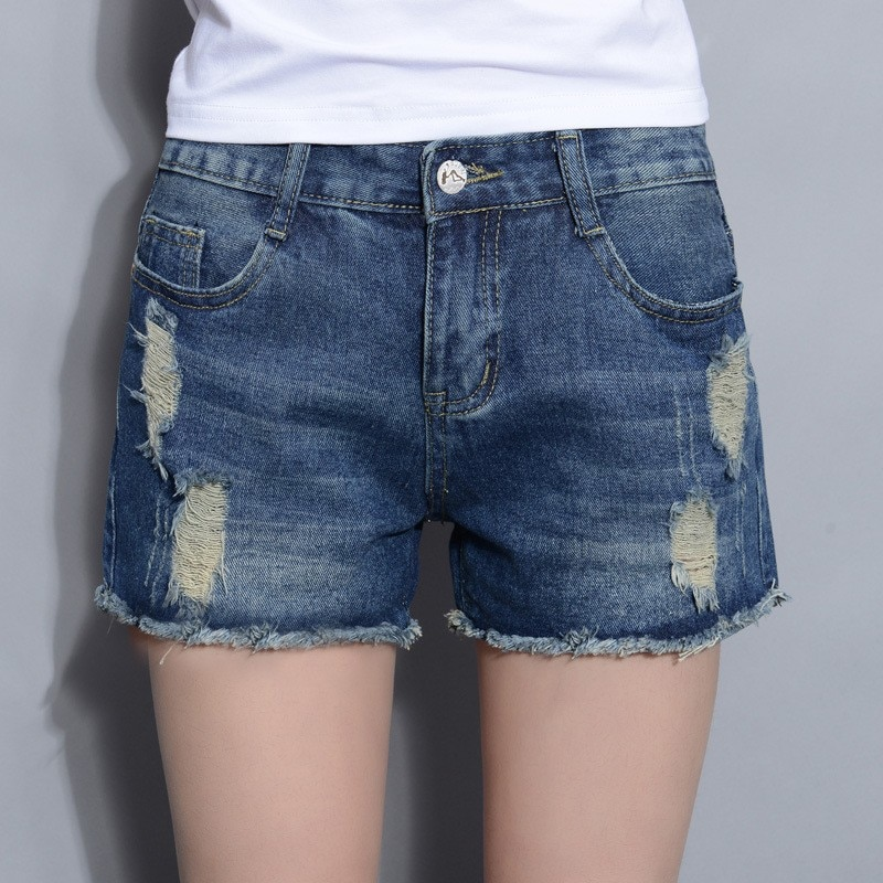 2019 Sexy Jeans Shorts Women Summer Booty Shorts Mini Denim Short Feminino Casual Jean Black Shorts
