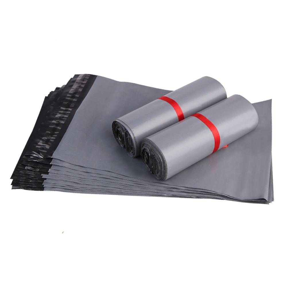 20*34 cm Grau Farbe Poly Selbstklebende Versandtaschen Kurier Poly Plastiktüten Express Mail Verpackungsbeutel 200 teile/los Kostenloser versand