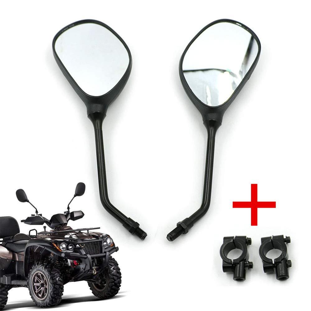 """M10 Motorrad Rückansicht Spiegel 7/8 """"Lenker Halterungen Für Honda Kawasaki Yamaha Suzuki KTM Arctic Cat ATVs Polaris Sportsman"""